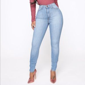 Fashion Nova High Waisted Skinny Jeans